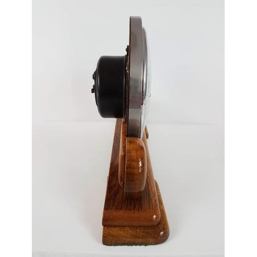 87 - An Art Deco Decorative Mahogany Mantle Clock - Needs Glass Replacing....