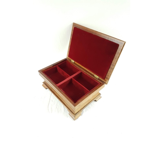 91 - An Edwardian Lined Decorative Jewellry Box In Great Condition....