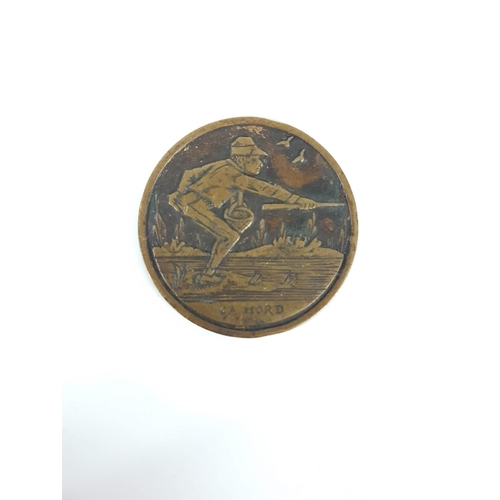 97 - A Bronze Victorian Fishing Medallion Awarded To Mr C.A Mord....