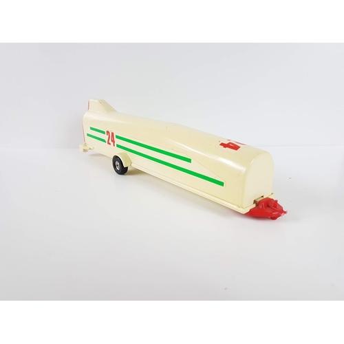 110 - A Corgi Toys Honda Prelude With Glider Trailer & Glider....