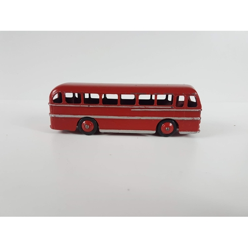 112 - A Dinky Toys Duple Road Master Leyland Royal Tiger In Red & Silver....