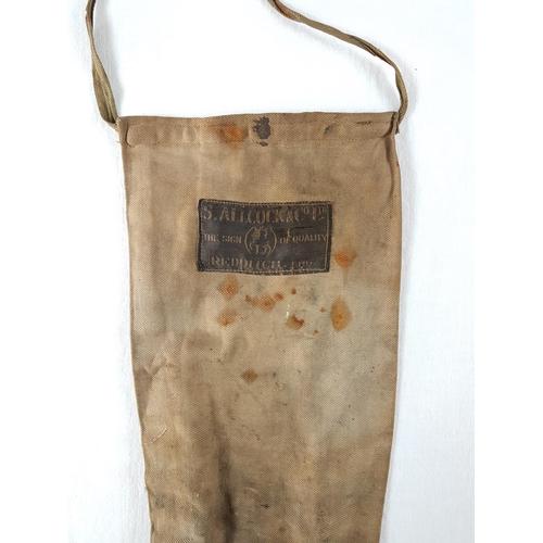 11 - An Antique Samuel Allcock & Co Ltd Redditch Nine Foot Fishing Rod. With Brass Butt, Reel Fixtures & ...