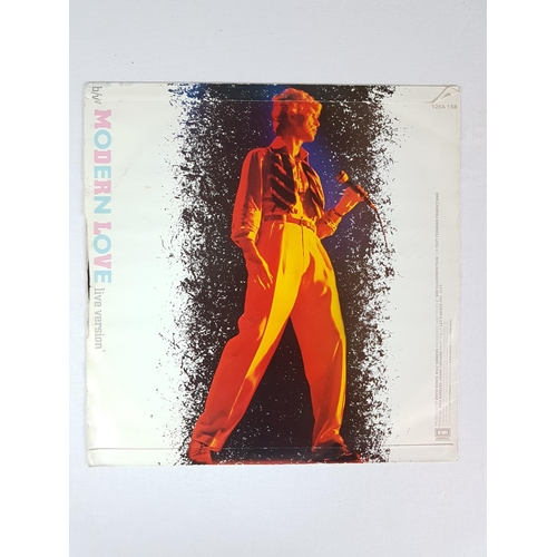 25 - David Bowie Modern Love Twelve Inch Vinyl Record Single EMI 12EA158....