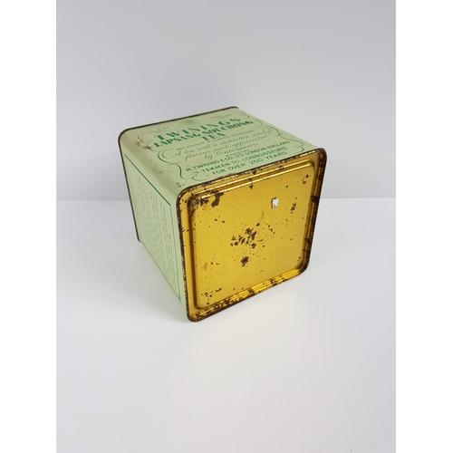 20 - A Vintage Twinings Lapsang Souchong Tea Square Tin....
