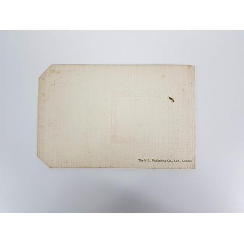 46 - An Edwardian Charles Dickens Souvenir Greetings Card Kings Bench Walk Temple....