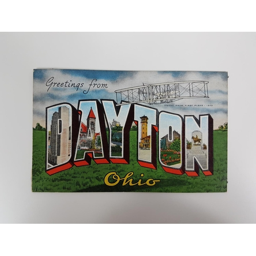 47 - A 1930's USA Greetings From Dayton Ohio Landmark Postcard....