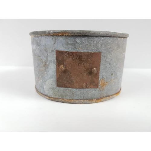 59 - A World War One Prices Patent Candle Co Ltd Candle In Tin Can....