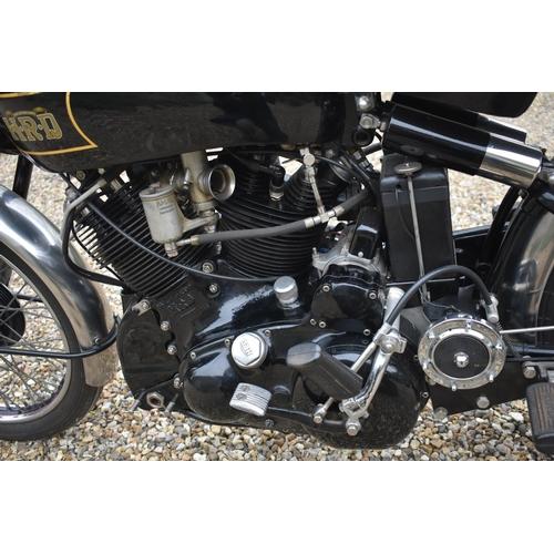 50 - A 1949 Vincent HRD Black Shadow Series C, registration number FWV 663, upper frame number RC4158B, l...