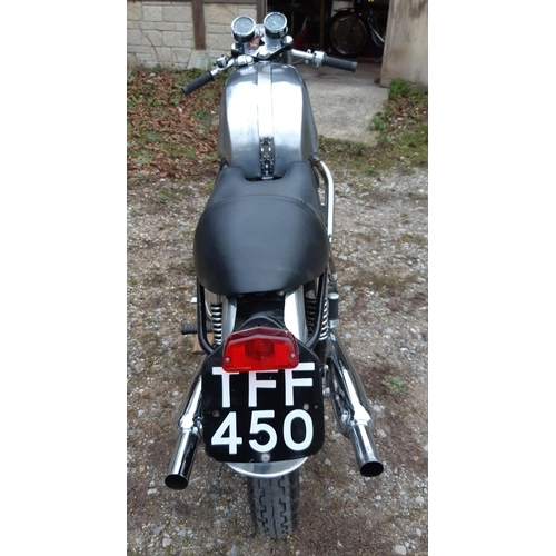 51 - A 1956 Triton café racer, registration number TFF 450, aluminium/nickel. This well presented and pur...