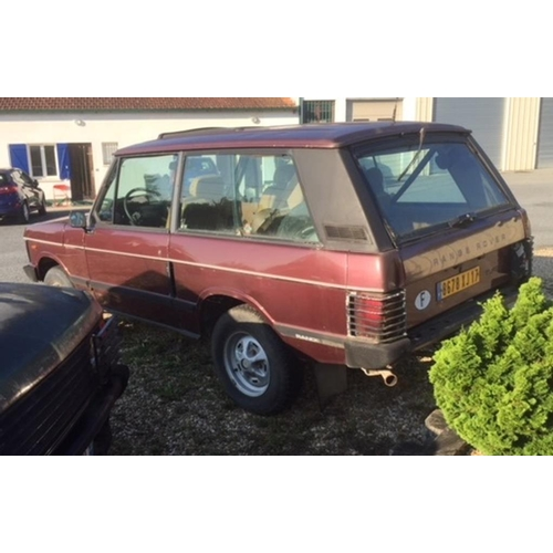 106 - A 1984 LHD Range Rover Classic two door, French registered, Burgundy Calypso red. Having recently be...