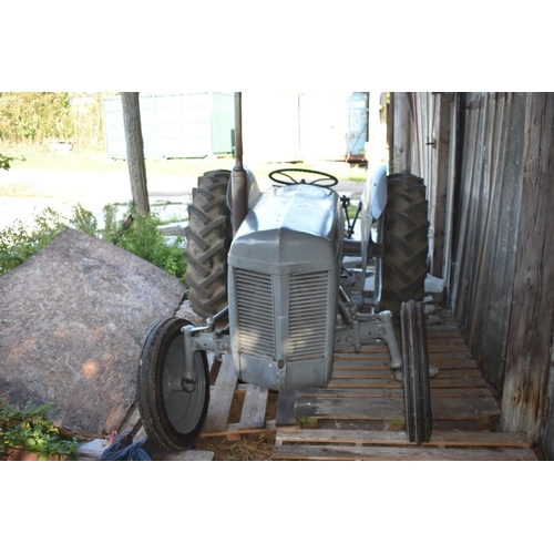 110 - A Ferguson TE 20 tractor, grey.  Once a common sight on farms, this petrol engine tractor is now a p...