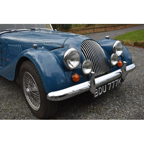 124 - A 1971 Morgan 4/4 Competition, registration number BDU 777K, Jaguar squadron blue. This rare factory...