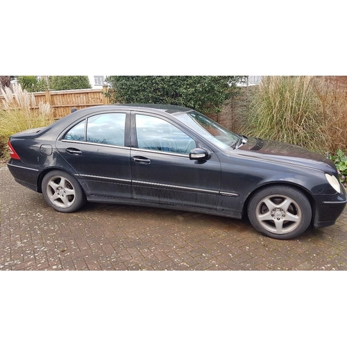 139 - A 2000 Mercedes-Benz C240 saloon, registration number ***X146 DFJ (not T222 MAH)***, black.  This we...