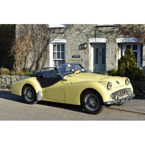 143 - A 1957 Triumph TR3/3A, registration number AAS 227, ***South African commission number 296621 (not 2...