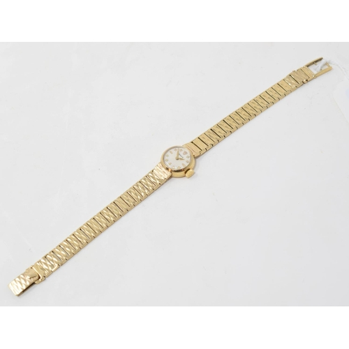 60 - A lady's 9ct gold Rolex wristwatch, the dial, movement and case signed...