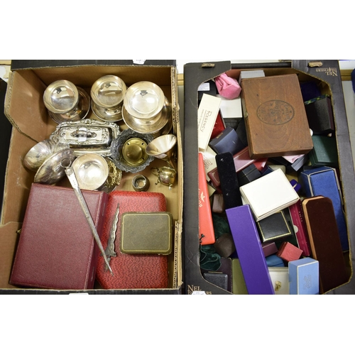 8 - Assorted silver plate, jewellery boxes and other items (2 boxes)...