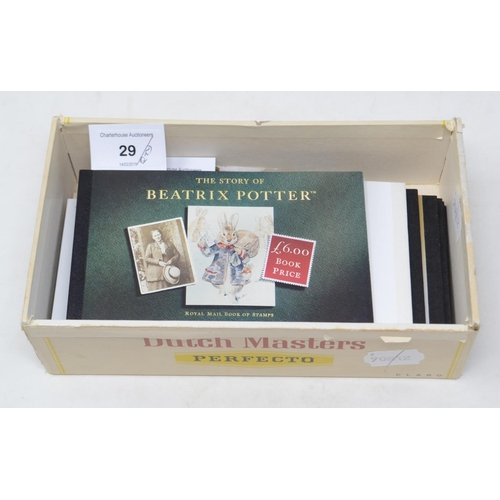 29 - Fourteen Royal Mail prestige stamp booklets, other stamp booklets and items...