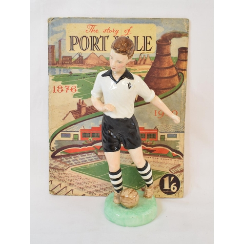 448 - A W R Midwinter Ltd pottery figure, of a Port Vale footballer, head and arm glued, 22.5 cm high, The...