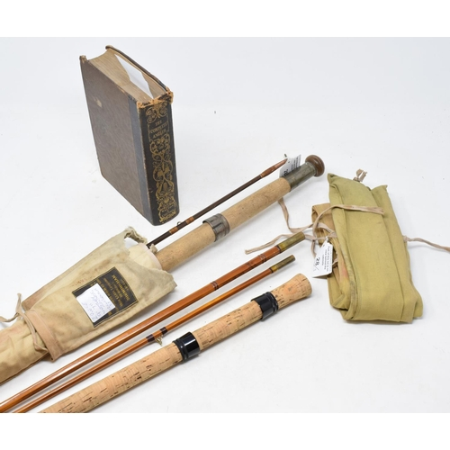 28 - A Chapman 500 De-Luxe 303 cm carp rod, another rod and Walton (Izaak) and Cotton (Charles) The Compl...