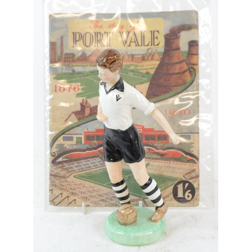 323 - A W R Midwinter Ltd pottery figure, of a Port Vale footballer, head and arm glued, 22.5 cm high, The...