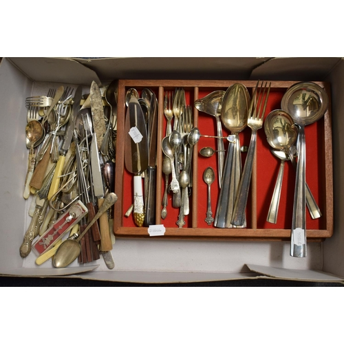 36 - A Berndorf silver plated part service of cutlery, and other plated items (box)...