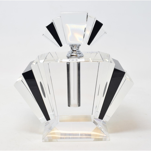 703 - An Art Deco style scent bottle and stopper, 22.5 cm high...