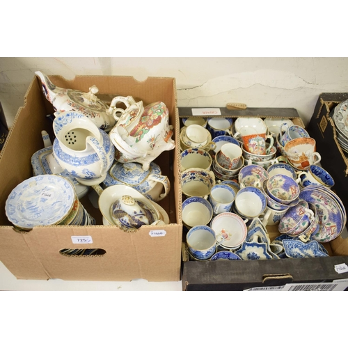725 - Seven Mason's Ironstone teapots, mostly with damage, and other assorted Mason's Ironstone teawares (...