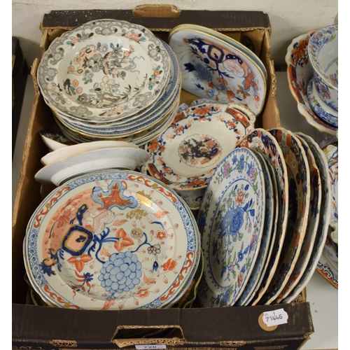 726 - Assorted Mason's Ironstone plates and bowls (box)...