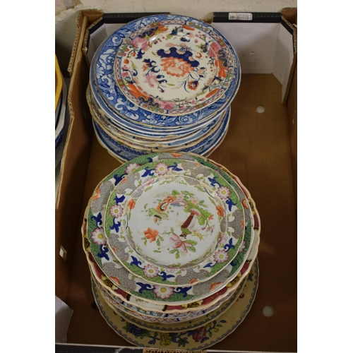 728 - Assorted Mason's Ironstone plates and bowls (box)...