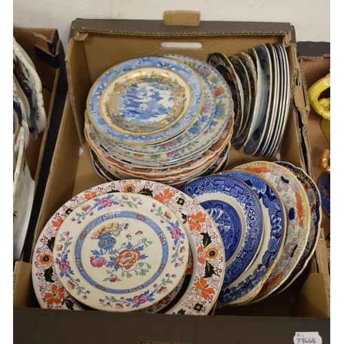 731 - Assorted Mason's Ironstone plates and bowls, various patterns, sizes and shapes (box)...