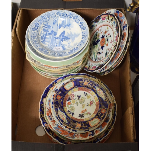 734 - Assorted Mason's Ironstone plates and bowls (box)...