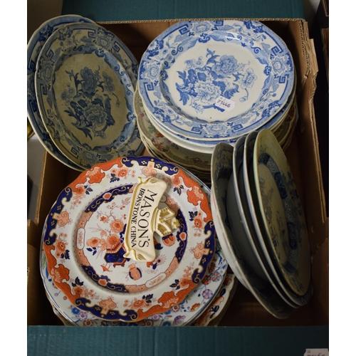 737 - Assorted Mason's Ironstone plates and bowls (box)...
