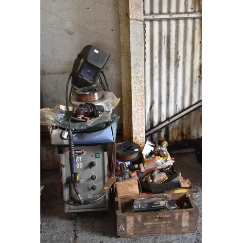 17 - A Butters base, AM1800 mig welder with accessories (qty)...