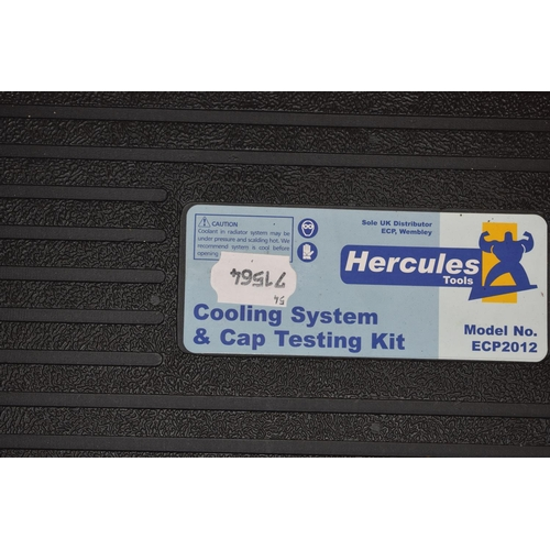 54 - A Hercules model no. ECP2102 cooling system and cap testing kit, boxed...