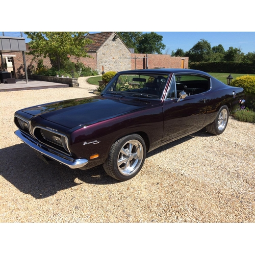 45 - A 1969 Plymouth Barracuda fastback coupé, registration number HDS 592H, chassis number BH.29F9B27359...