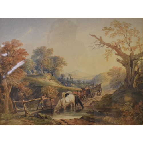 59 - After Thomas Gainsborough (1727-1788), The Brook by the Way, watercolour, 30 x 38.5 cm...