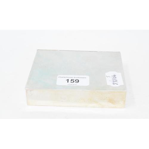 159 - A modern silver sandwich tin, Birmingham 1981, approx. 14.5 ozt, 12 cm wide...