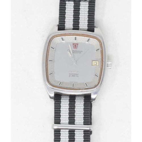 287 - A gentleman's stainless steel Omega Constellation Chronometer wristwatch, with baton indices and cen...