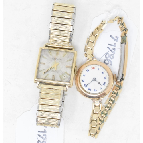 315 - A gentleman's 9ct gold Winegartens wristwatch, and a lady's wristwatch (2)...