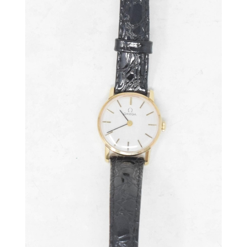 317 - A lady's 9ct gold Omega wristwatch, 1974...