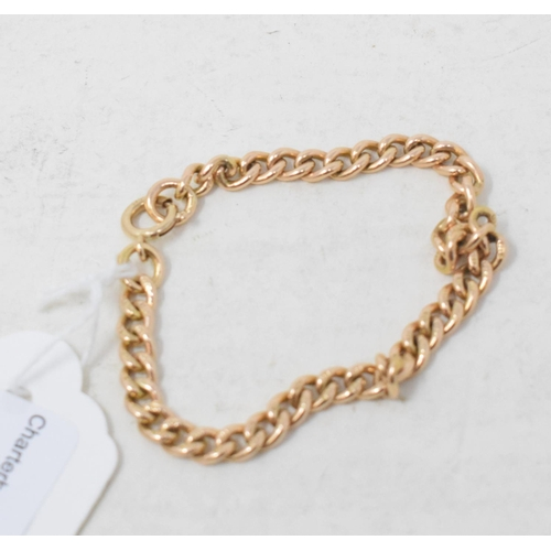 342 - A 15ct gold bracelet, approx. 11.9 g...