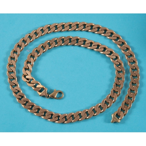 353 - A 9ct gold necklace, of good gauge, approx. 133.8 g See illustration...