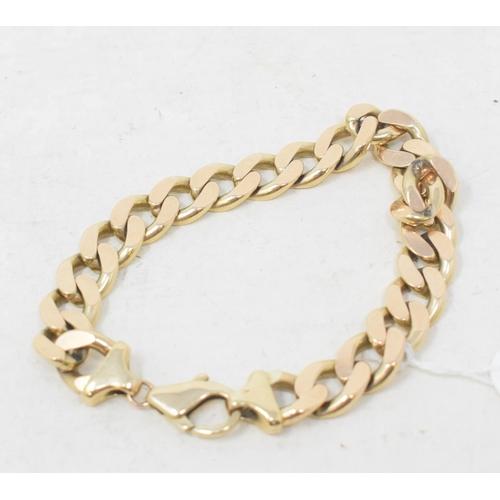 354 - A 9ct gold bracelet, of good gauge, approx. 42.1 g...