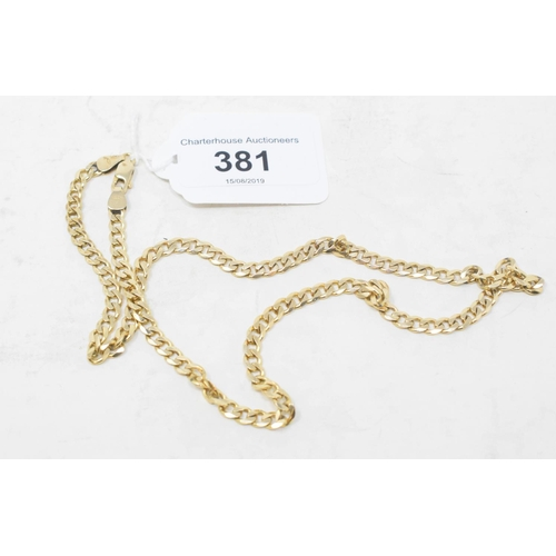 381 - A 9ct gold link necklace, approx. 16.1 g...