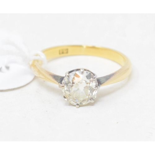 484 - An 18ct gold and solitaire diamond ring, approx. ring size O...