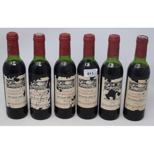611 - Six half bottles of Chateau Fombrauge Saint-Emilion Grande Cru, 1978 (6)...