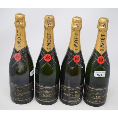 638 - Four bottles of Moet & Chandon, 1988 (4)...