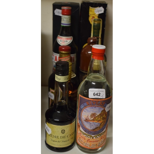 642 - A bottle of Royale Grenadian rum, and ten other bottles of liqueurs and spirits (11)...