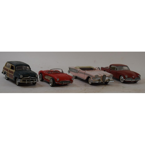 660 - A Precision Models 1:18 scale Ford Thunderbird and other similar models, A NATIONAL BENZOLE MIXTURE ...