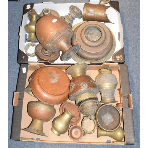 713 - Assorted Eastern and other metalwares (2 boxes)...